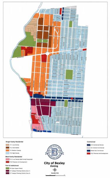 bexley zoning maps