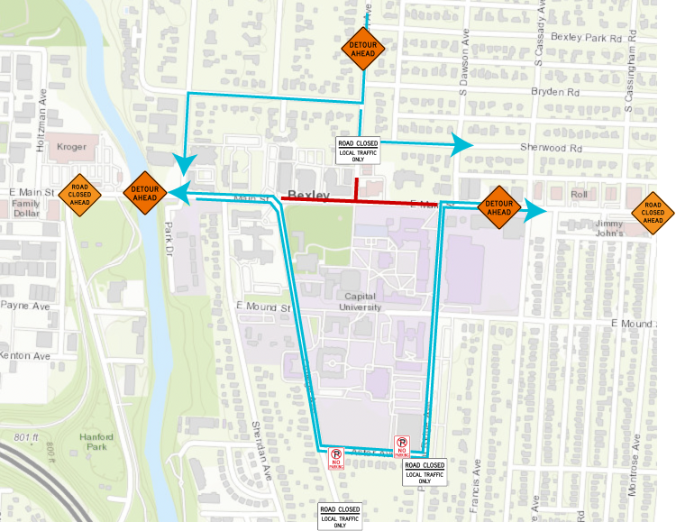 2021-09 Labor Day Main Street Traffic and Detour